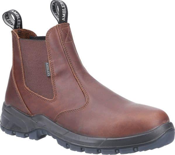 Amblers Ardwell Mens Occupational Footwear Brown